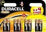 DURACELL MN1500B4+4 AA Standard Alkaline Batteries (4+4Free=8x)