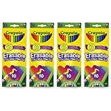 Crayola 10 Count Erasable Colored Pencils, Multi, (4-Pack) (Tamaño: 4 Pack)