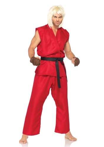 Leg Avenue Costumes 4Pc.Ken Includes Shirt Pants Belt and Hand Pads, Red