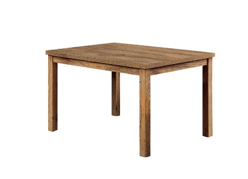 Furniture of America Nash Rectangular Dining Table, 48-Inch, Light Oak