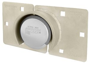 American Lock A801LHC Shrouded Hasp & Round Padlock (Hockey Puck) For Cargo Commercial Vans
