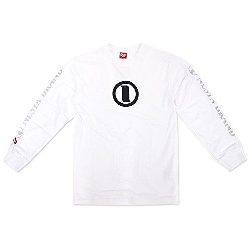 (ネスタブランド) NESTA BRAND メンズ 長袖Tシャツ (ロゴ) (L, WHT)