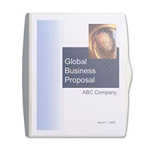 GBC Presentation Sleeve, Letter Size, Translucent Gray with Dots (W21536)