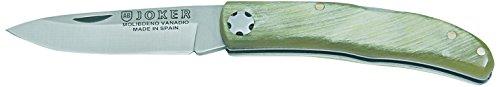 Joker Pocket Knife with Horn Handle, Bull Horne, 5.9-Inch