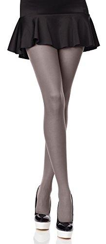 Merry Style Donna Opaco Collant Microfibra 40 DEN (Grigio, 4 (40-44))
