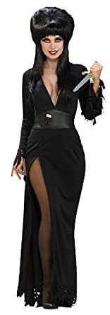 Elvira Mistress Of The Dark Deluxe Grand Heritage Collection Costume, Black, Small