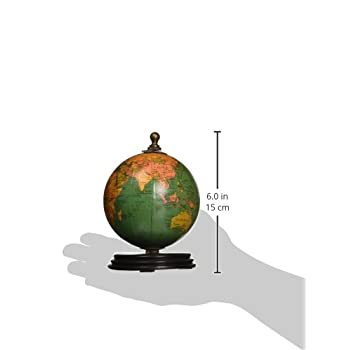 IMAX 73027-3 Antique Finish Mini Globe on Wood Base Artwork, Set of 3