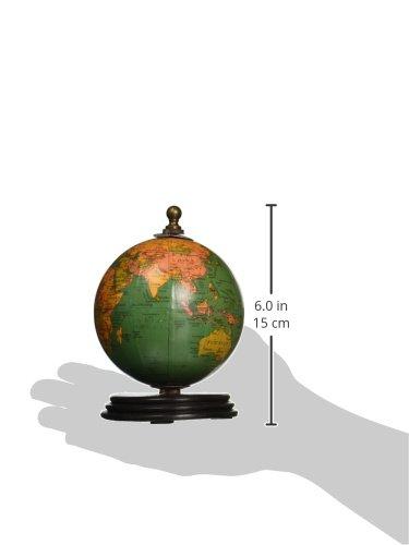 IMAX 73027-3 Antique Finish Mini Globe on Wood Base Artwork, Set of 3 2
