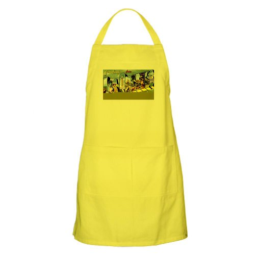 Cafepress Los Angeles California Greetings BBQ Apron - Standard