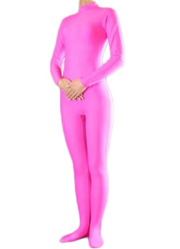 [TOMSUIT Lycra Spandex Zentai Unitard Catsuit, M, Pink] (Pink Spandex Bodysuit)