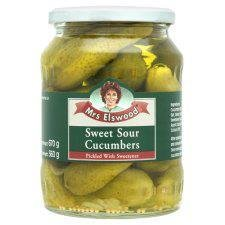Mrs Elswood Sweet Sour Cucumbers 670G