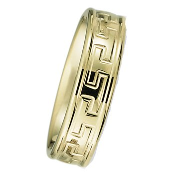 6.00 Millimeters Yellow Gold Wedding Band Ring 10Kt Gold, Comfort Fit Style SE162Y, Finger Size 14¾