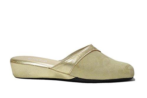 Cinzia Soft Ciabatte da camera oro scarpe donna 631 40