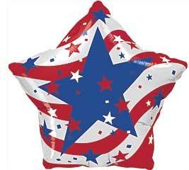 18 Patriotic Stars Star Shape