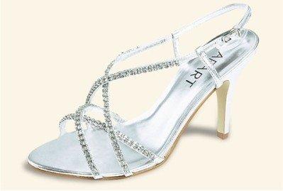 Sandalette von Apart mit Glitzersteinen in Silber