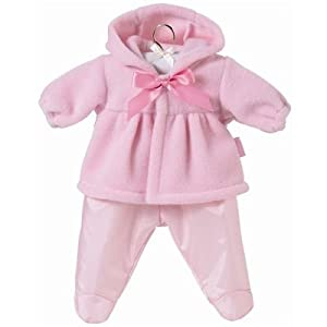 Corolle My First Fashions 12-Inch Pink Hooded Fleece Jacket Set
