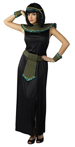 Funworld Womens Egyptian Sexy Midnight Cleopatra Black Theme Party Fancy Costume