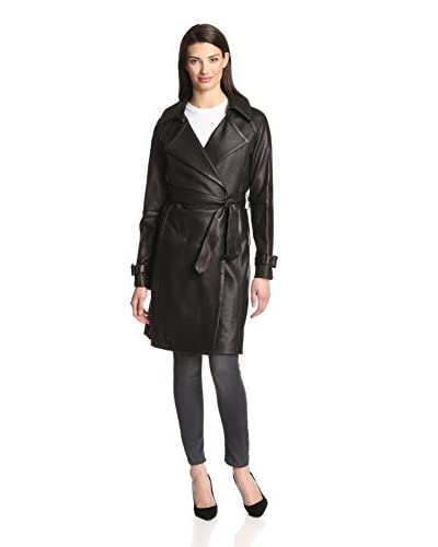 Diane von Furstenberg Women's Emanuelle Perforated Leather Trench