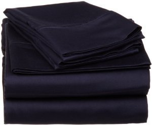 Sheetsnthings Full Size 600-Thread-Count Egyptian Cotton 600TC, Solid Navy Sheet Set, Deep Pocket 600 TC Coupon 2016