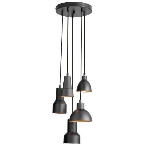 Dainolite Lighting IC-105P-BLK Pendants, Black Finish
