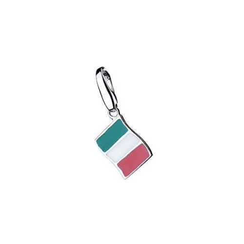 Giorgio Martello Charm Silver 155-802939 Lucky Flag Italy
