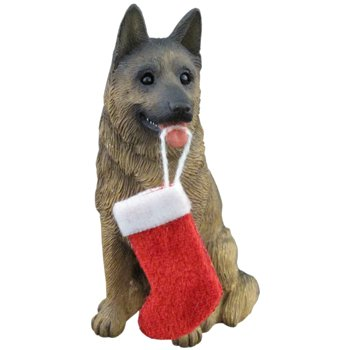 Sandicast German Sheperd w/stocking ornament Sandicast [Kitchen]