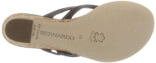 Bernardo Women's Miami Wedge Sandal,Black,8.5 M US