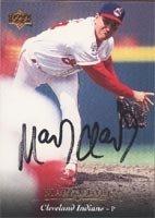 Mark Clark Cleveland Indians 1995 Upper Deck Autographed Hand Signed Trading Card.