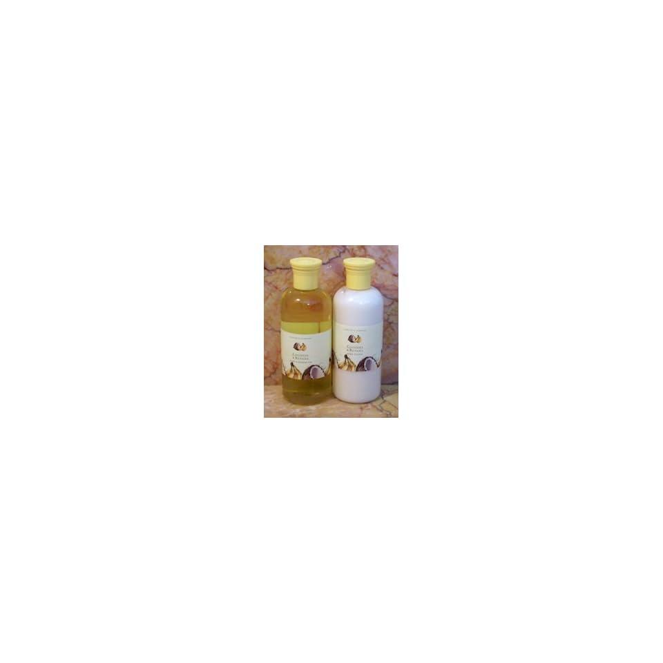 Asquith & Somerset Coconut & Banana Bath & Shower Gel & Body Lotion Set