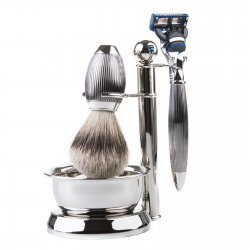 Benjamin Barber Imperial XT 4-Piece Shaving Set Dark Chrome (Set utan rakhyvel)