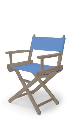Telescope Casual Child'S Director Chair, Rustic Grey With Periwinkle Canvas Fabric