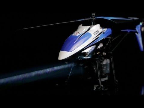 Imagen de V319 3.5 canales de pulverización de agua Helicóptero RTF con construido en el girocompás (azul)