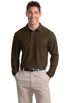 port-authority-mens-port-authority-long-sleeve-silk-touch-l-coffee-bean