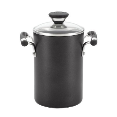 Circulon Acclaim Hard Anodized Nonstick 3-1/2-Quart Covered Asparagus Pot With Steamer Basket front-621734
