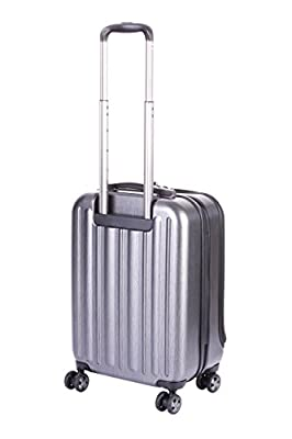 Hideo Wakamatsu Business Lightweight Flash Cabin Carry On Small Hard Suitcase 4 Wheel Spinner Grey