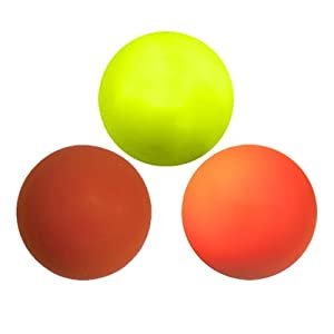 Buy Three Assorted Color Lacrosse Balls - Yellow, Red and Orange [Misc.] by Lacrosse Ball Store