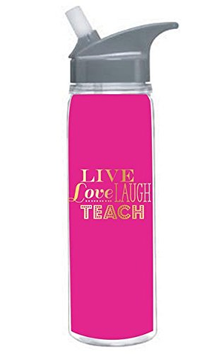 Teacher Gift - Live Love Laugh Teach 18 Oz. Double Wall Insulated Water Bottle