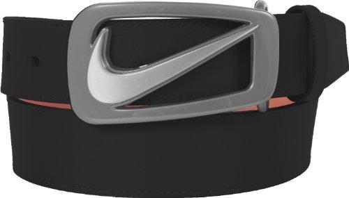 NIKE Golf Signature Swoosh Cutout II Belt, Black, 32