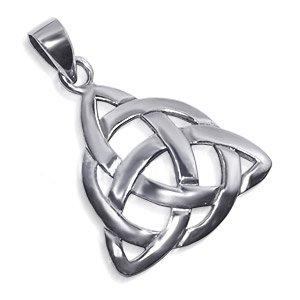 triquetra celtic knot sterling silver pendant