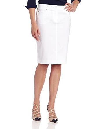 rafaella s stretch polished denim skirt white 4 at