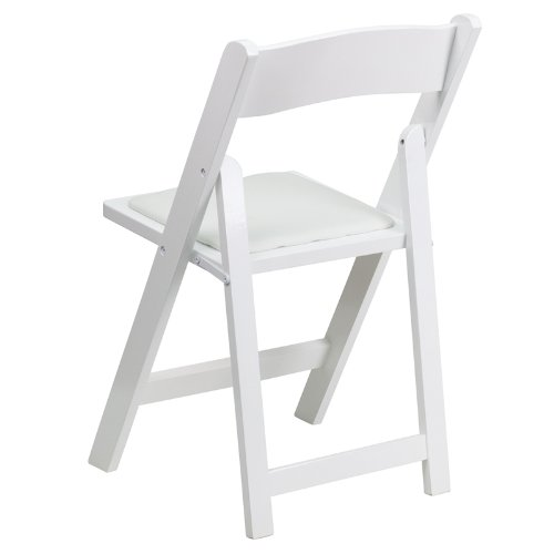 Flash Furniture 4-Pack Hercules White Wood Folding Chair with Padded Seat