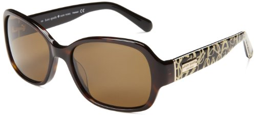 Kate Spade Women'S Akiraps Polarized Rectangular Sunglasses,Tortoise,54 Mm