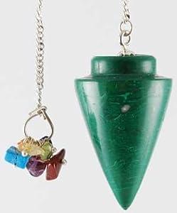 Malachite 7 Chakra pendulum (GP019) -