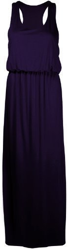 PurpleHanger Women's Toga Long Vest Maxi Dress Plus Size Purple 20-22