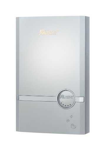 American Hometec AHQ-B03X Coilless Technology Electric Tankless Water Heater for Low Flow Sink or RV-Marine-AHQ-B03X 120V 20/30 Amps 0.5 GPM at 45F Raise White