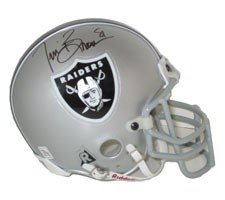 Tim Brown Autographed Hand Signed Oakland Raiders Authentic Mini Helmet by Riddell by Hall of Fame Memorabilia