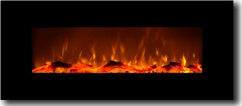"Test Onyx 50"" Electric Wall Mounted Fireplace"