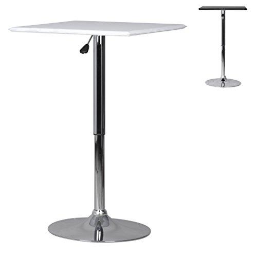 Amstyle-Altona-Bistrotisch-hhenverstellbar-eckig-MDF-Tischplatte-mit-Bezug-in-Leder-Optik-60-x-60-cm-wei