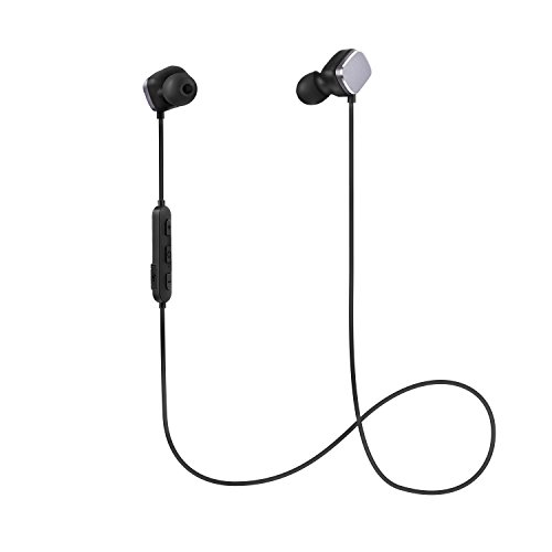 Bluetooth Sports Headphones,COULAX in Ear Wireless Stereo Sweatproof Earphones Earbuds with Built-in Mic for iPhone7/7Plus 6s Samsung and Android (Lightweight,V4.1,CVC6.0 Noise Cancellation,8 Hours Playing Time,Black)