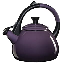 Le Creuset Enameled Steel Oolong Tea Kettle, 1.6-Quart, Cassis